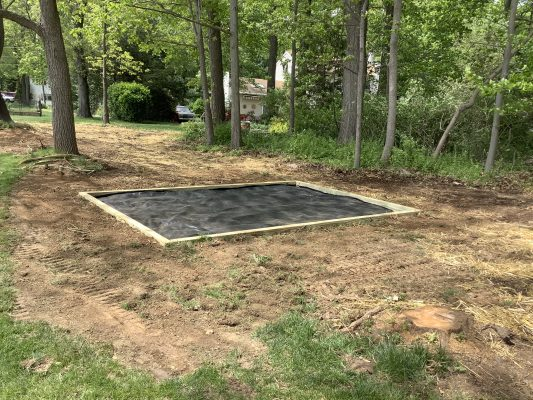 Shed foundation being built in Downingtown, PA