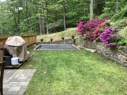 Installing a shed foundation in King of Prussia, PA