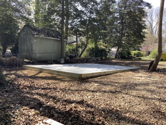 GRAVEL SHED FOUNDATION IN ANNAPOLIS, MD