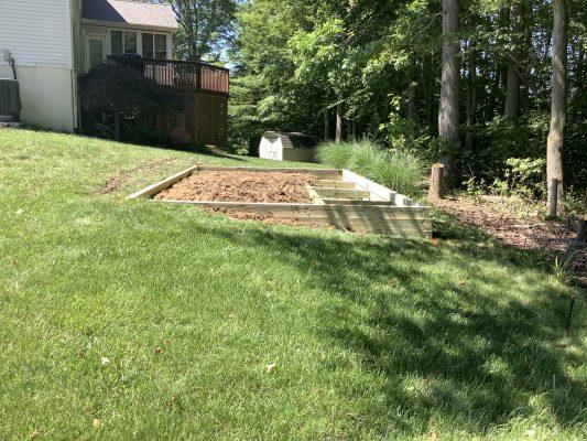 Installing a gravel shed foundation in Newark, DE
