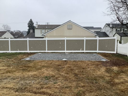 A gravel shed foundation in Warminster, PA