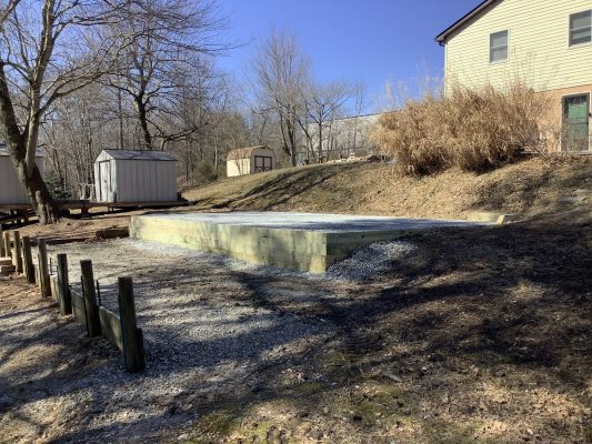 A gravel shed foundation in North East, MD