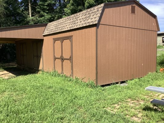 A shed on a foundation installed in Philadelphia, PA