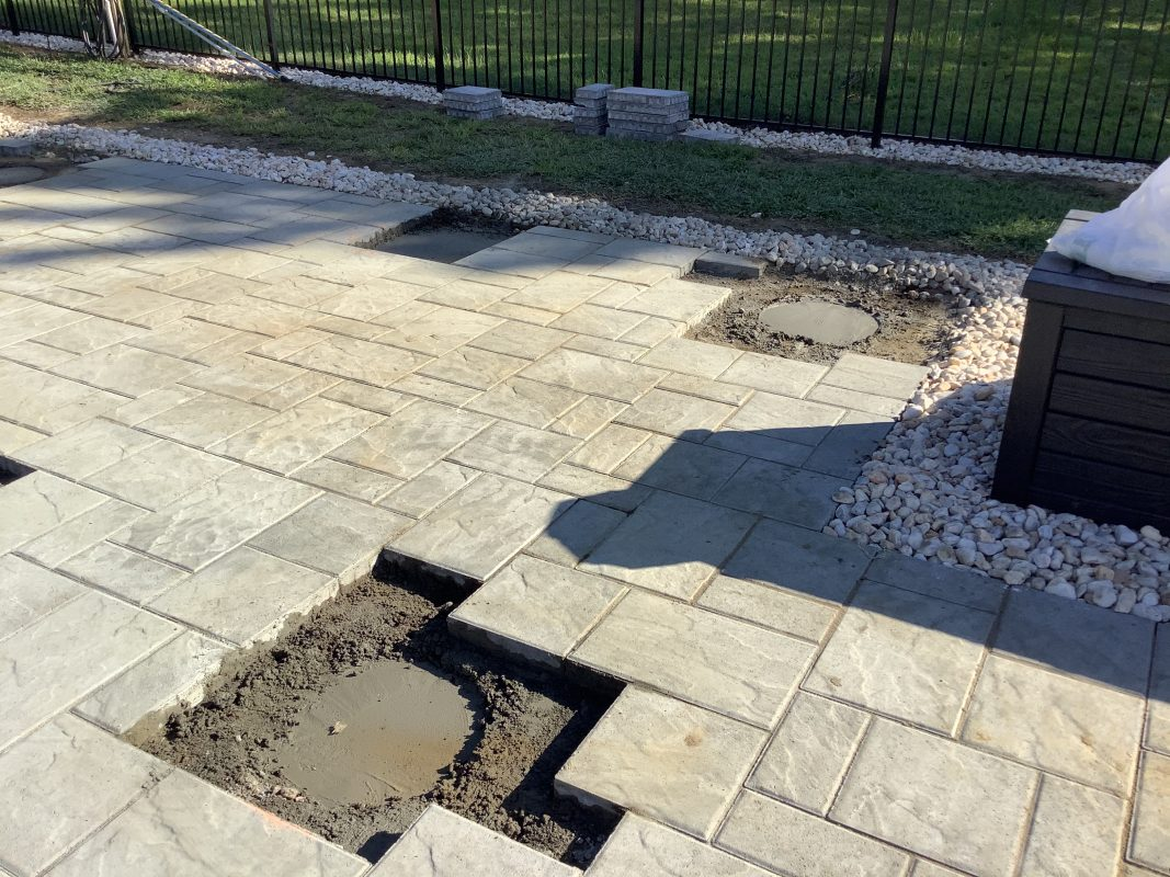 Pavilion footers poured in Marlborough Township, PA