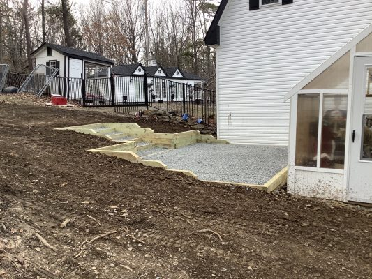 A gravel shed foundation in Bloomingburg NY