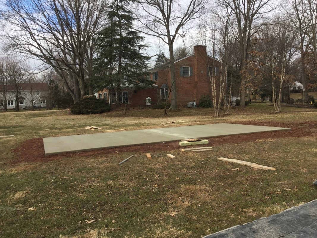A concrete foundation in Lansdale PA