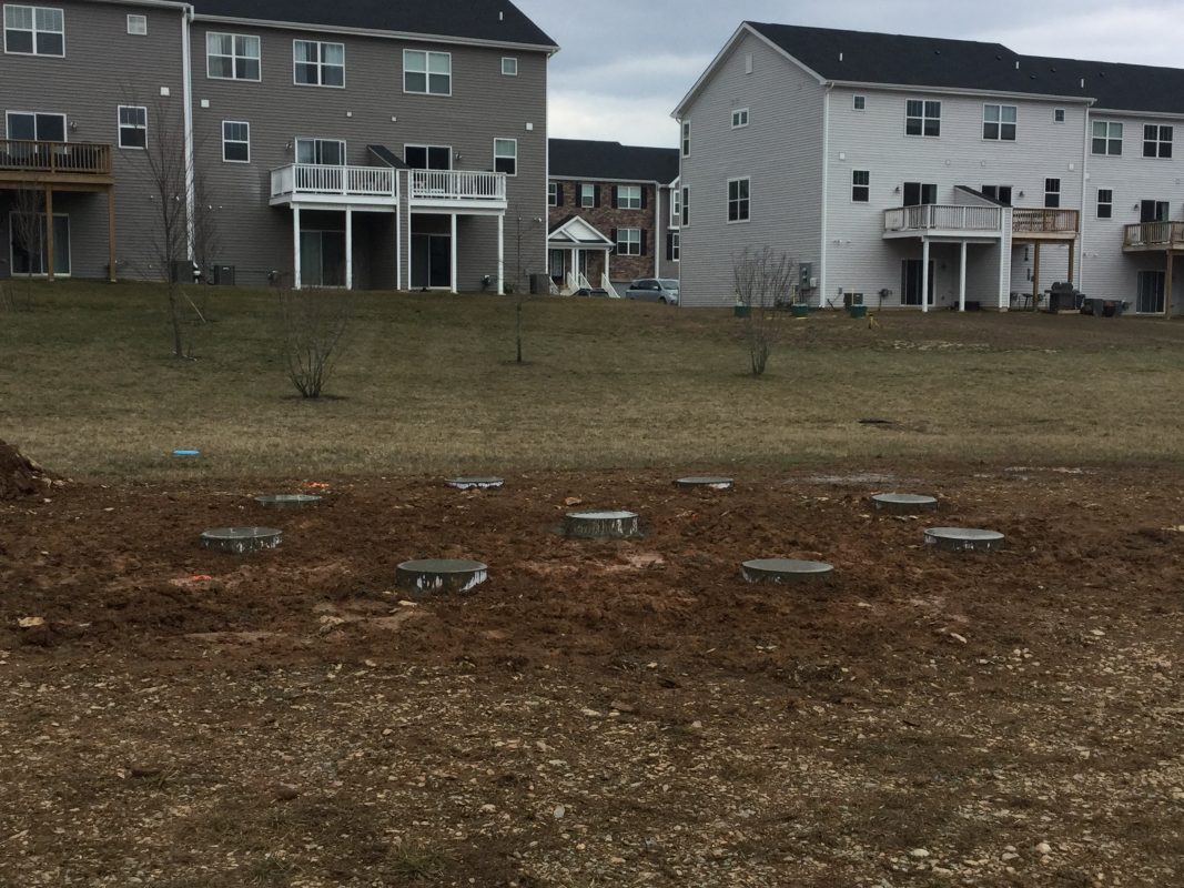 A gravel shed foundation in Downingtown PA