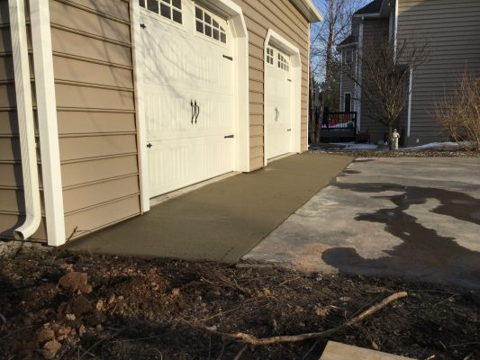 A concrete shed foundation in Doylestown PA