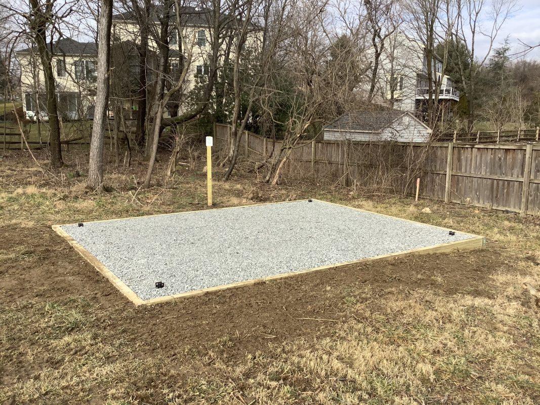 A gravel foundation in Burtonsville MD