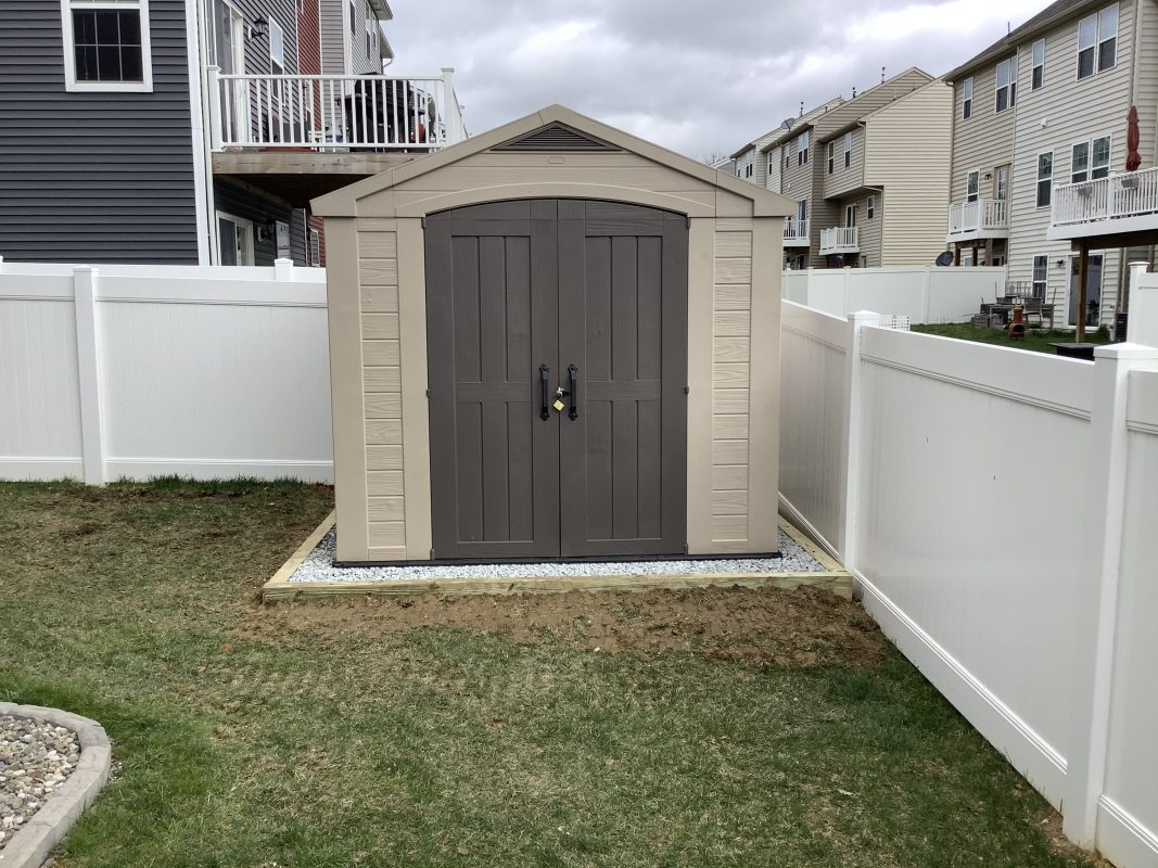 A gravel shed foundation in Hanover PA
