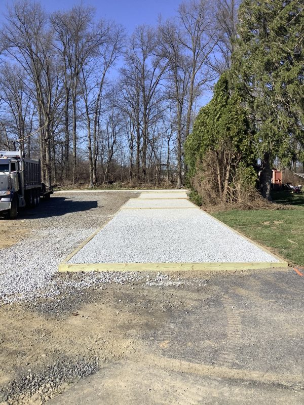 A gravel shed foundation in Lititz PA