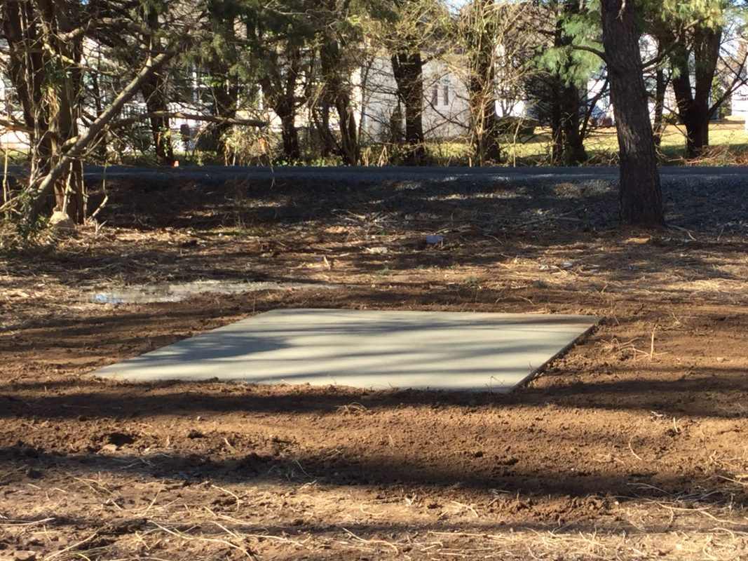 A gravel shed foundation in Lewes DE