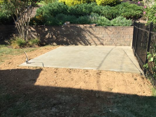 """A gravel shed foundation in Broomall, PA"""