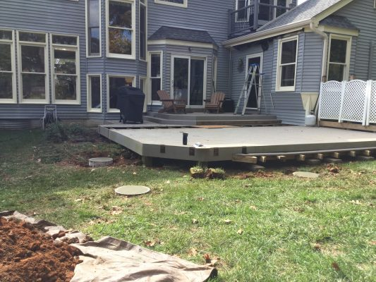 """A concrete shed foundation in Herndon, VA"""