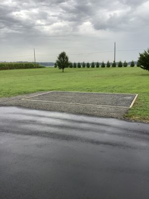 """A gravel shed foundation in Chesterton, MD"""