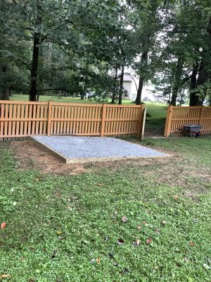 """A gravel shed foundation in Reisterstown, MD"""