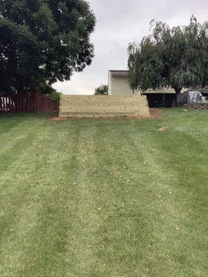 """A gravel shed foundation in Denver, PA"""