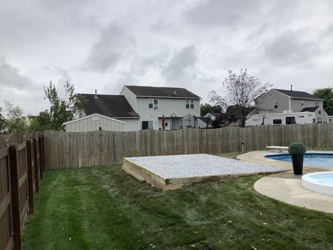 """""""A gravel shed foundation in Cicero, NY"""""""