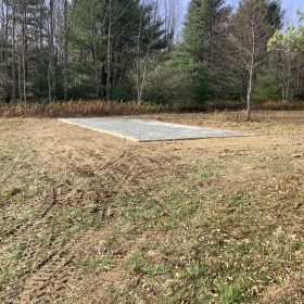 """""""A gravel shed foundation in Spencer, NY"""""""
