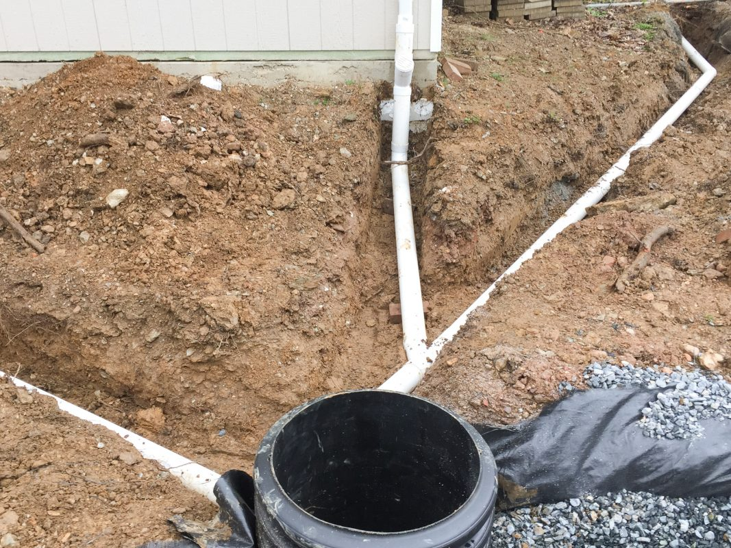 Drainage system for a shed