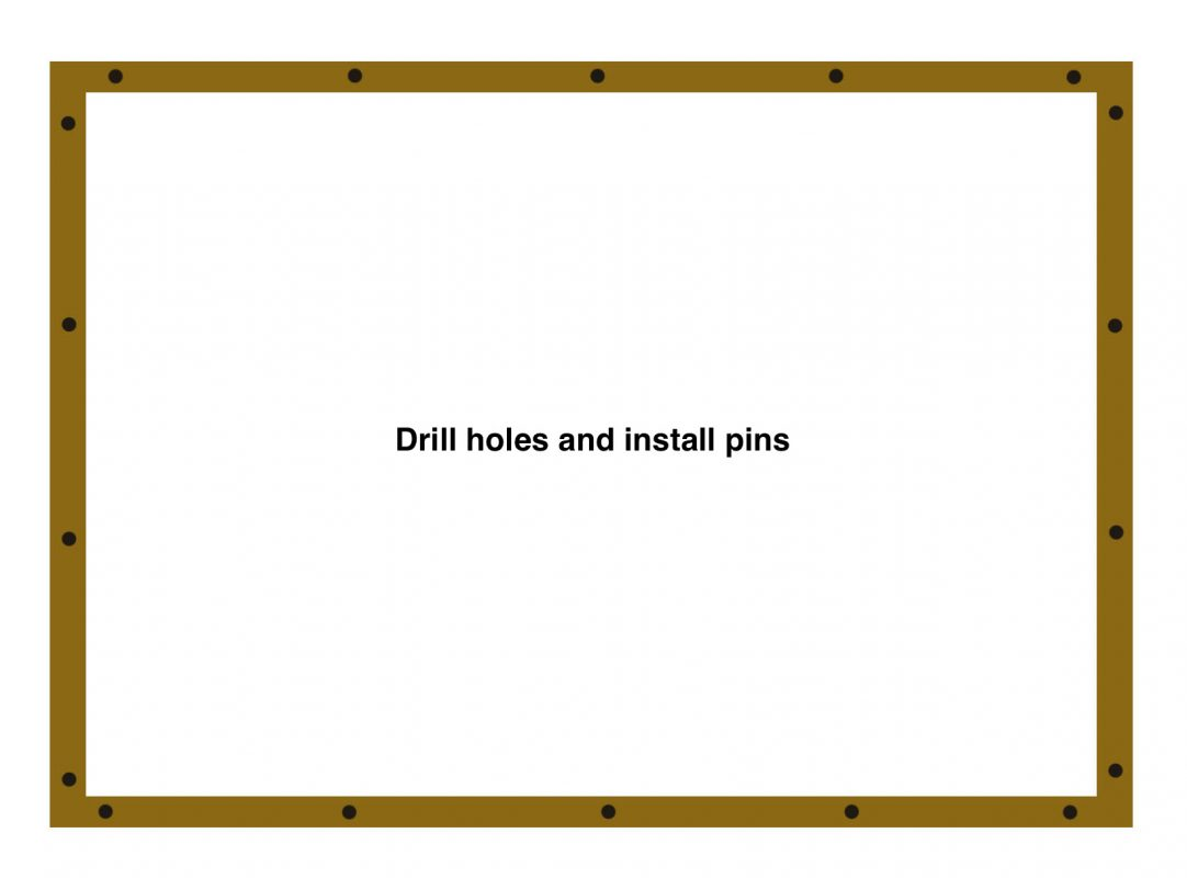 Diagram of a wood perimeter for a gravel shed pad