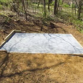 A gravel shed foundation for sale in NY, PA, NJ, DE, and MD.