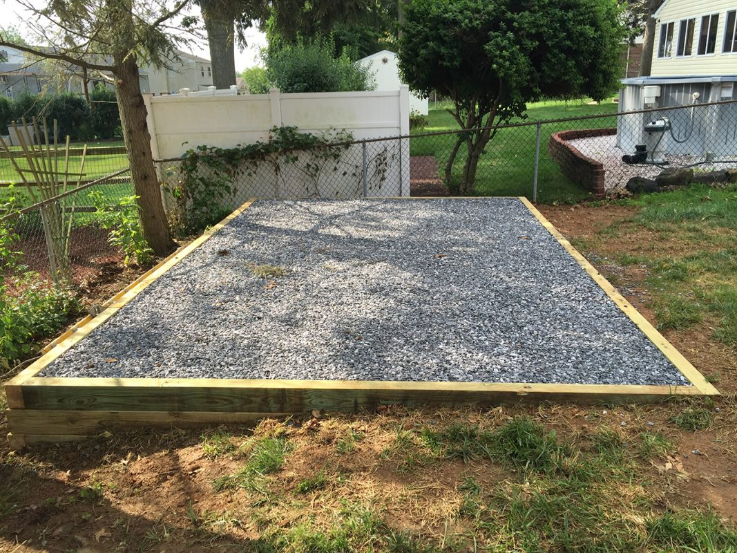 Why Your Gravel Shed Foundation Should Be 12 Quot Wider Than