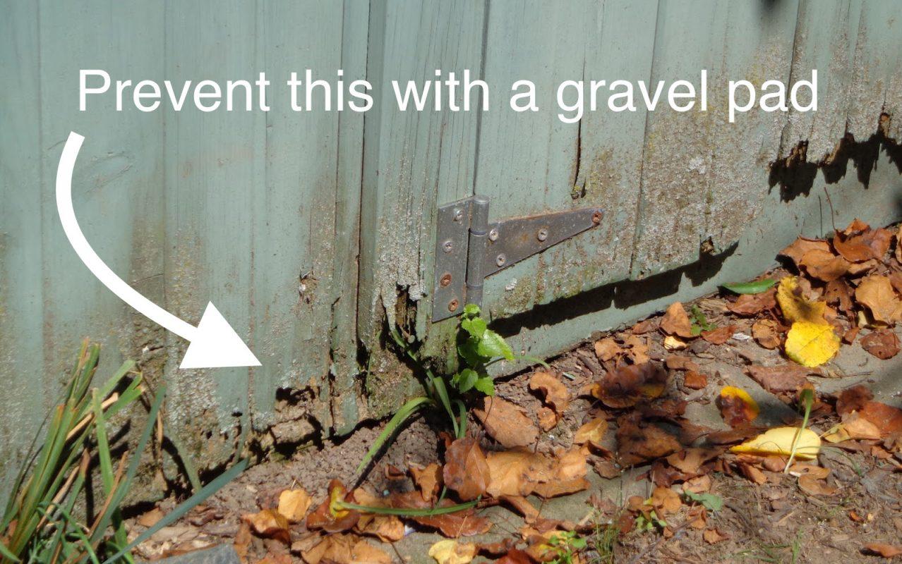 gravel vs concrete shed base
