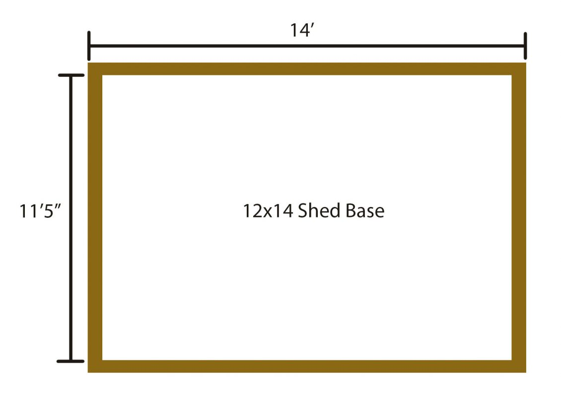 level ground for shed base 4x6 perimeter