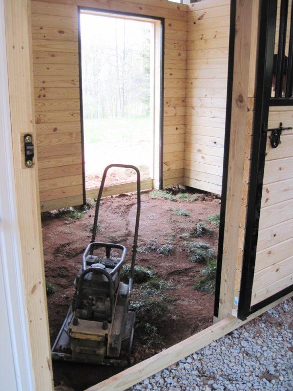 Horse barn stall site preparation in Reinholds, PA