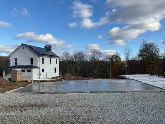 A concrete foundation installation in PA