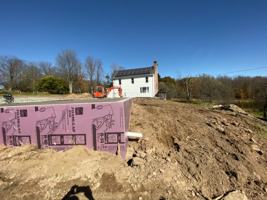 Cement garage foundation in PA