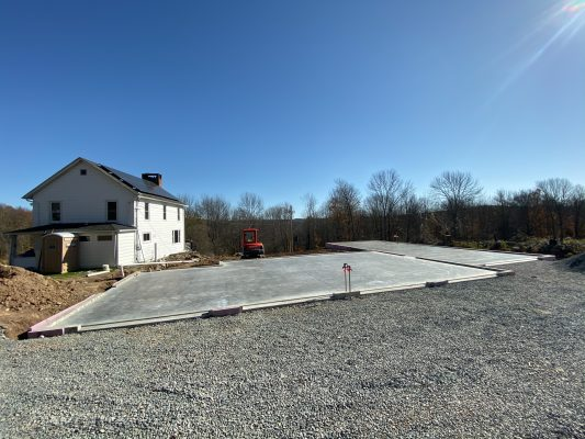 Completed garage foundation in PA