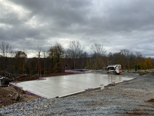 Concrete garage foundation installation in Pa